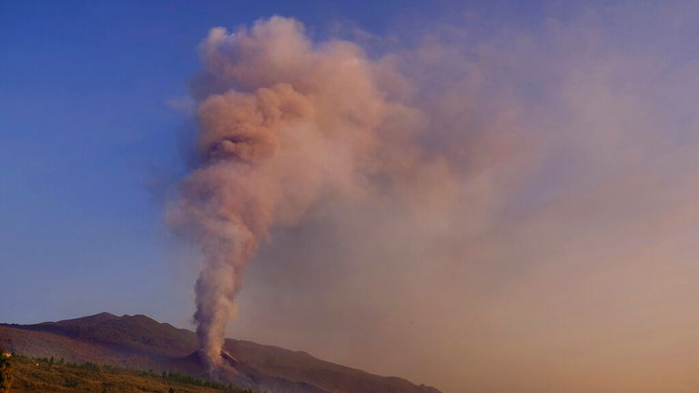 Cumbre Vieja is pictured on 4 October. Pic: AP