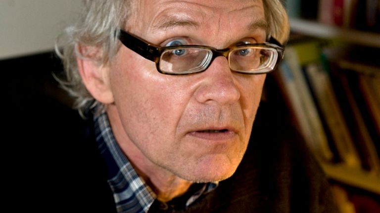 Swedish artist Lars Vilks at his home outside Hoganas in Sweden, Sunday May 16, 2010. Vilks, who had lived under police protection since his 2007 sketch of the Prophet Muhammad with a dog's body brought death threats,
