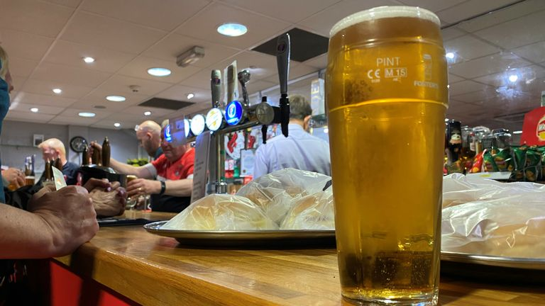 The popular Supporters Club bar at Leyton Orient