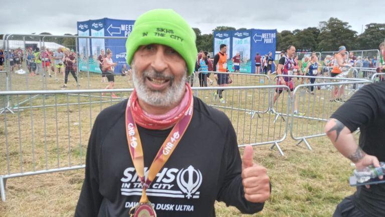 Harmander Singh, 62, who is preparing to run his 37th consecutive London Marathon after overcoming COVID-19