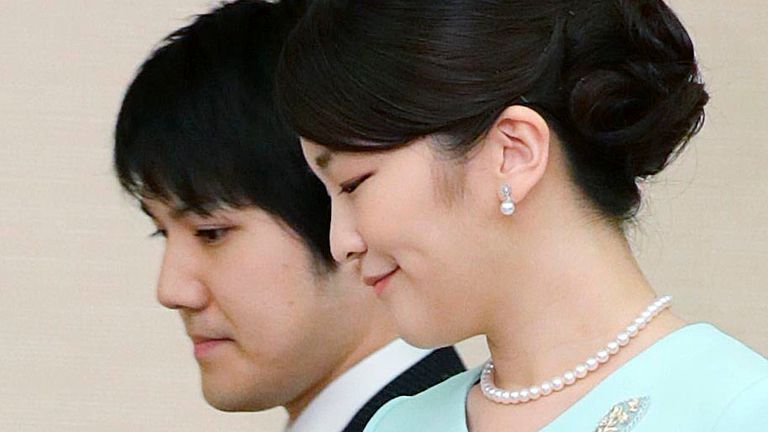 The couple's engagement was first announced in 2017 Pic; AP