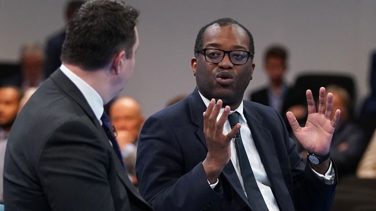 Business Secretary Kwasi Kwarteng during the Conservative Party Conference in Manchester. Picture date: Monday October 4, 2021.