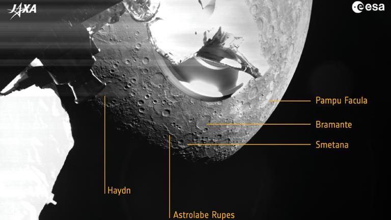 La mission BepiColombo a capturé ses premières images de Mercusry.  Photo: ESA/JAXA