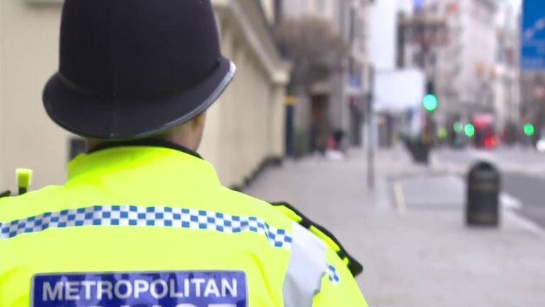A Met police officer out on patrol