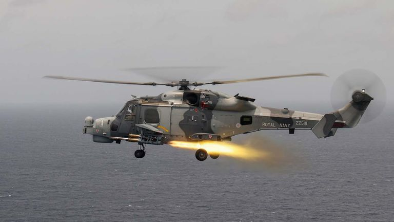 Martlet firing on the Carrier Strike Group deployment. Pic: Ministry of Defence
