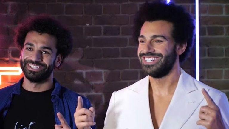 Mohamed Salah meets himself at Madame Tussauds