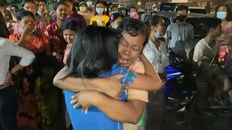 Myanmar prisoner release