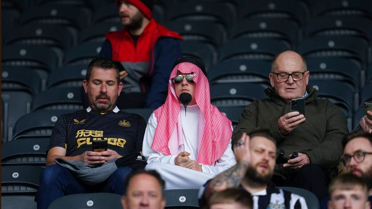 Some Newcastle fans have been dressing up for matches