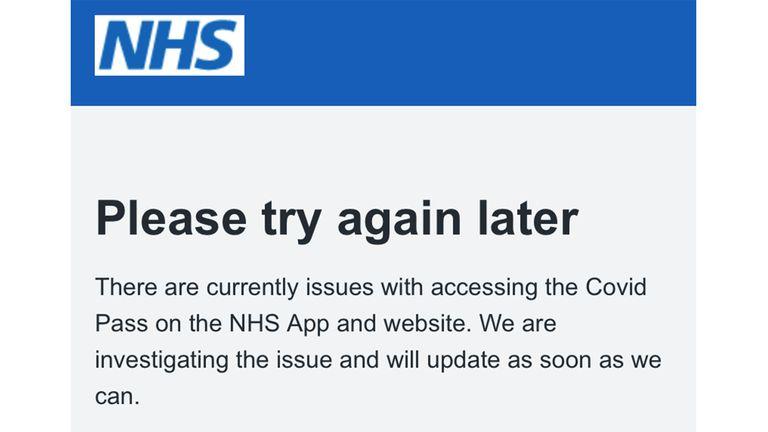 NHS APP CRASH