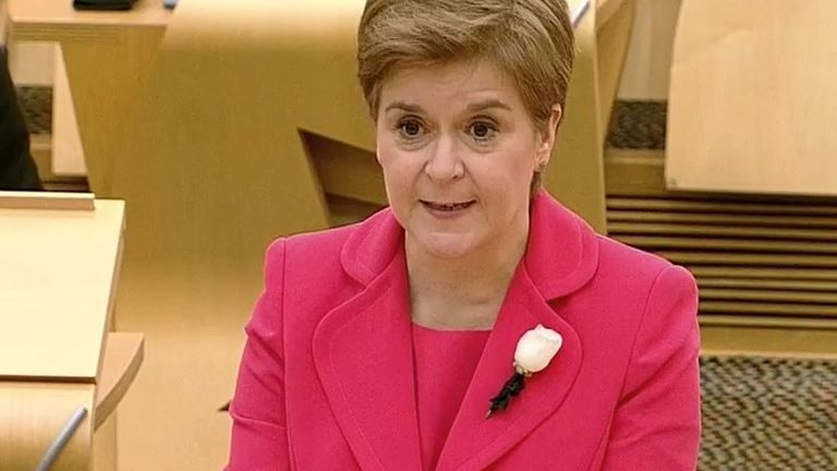 Nicola Sturgeon speaks at opening of Scottish Parliament session, with the Queen in attendance