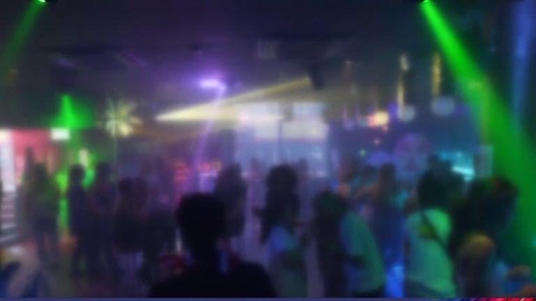 Nightclub scene anonymous