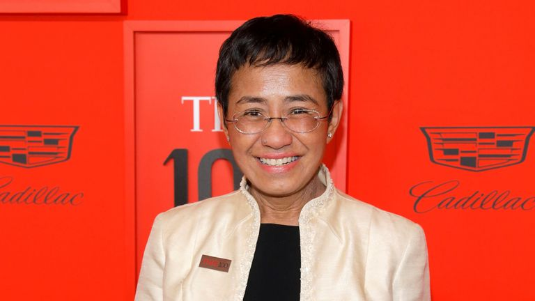 Chief Executive Officer of Rappler Maria Ressa arrives for the Time 100 Gala celebrating Time magazine's 100 most influential people in the world in New York, U.S., April 23, 2019. REUTERS/Andrew Kelly