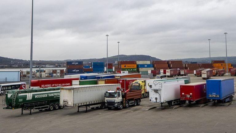 Shipping containers and lorry at the Stena Line terminal. Stena Line???s Irish Sea Trade Director Paul Grant has spoken about the challenges posed by Brexit and coronavirus as the company marks the 25th anniversary of establishing operations in Belfast.