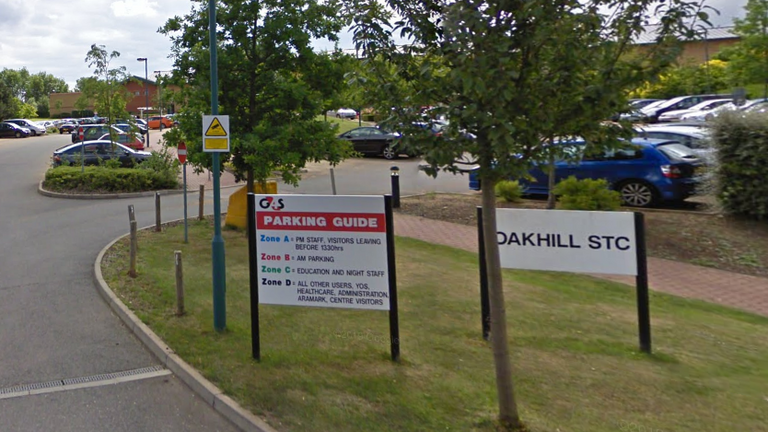 The entrance of Oakhill Secure Training Centre. Pic: Google Maps