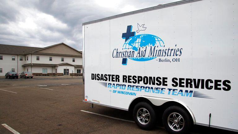 Christian Aid Ministries located on Ohio 39 in Berlin, Ohio is seen here on Sunday, Oct. 17, 2021. (AP Photo/Tom E. Puskar)