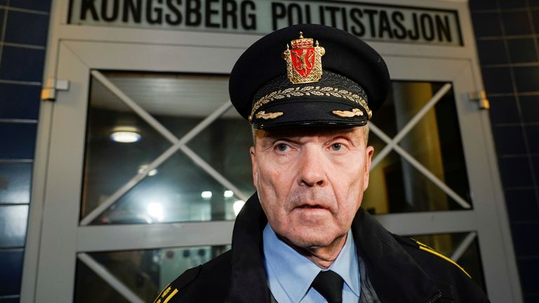 Police chief Oyvind Aas said there was 'major police activity' in the area