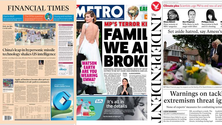 Monday papers temp