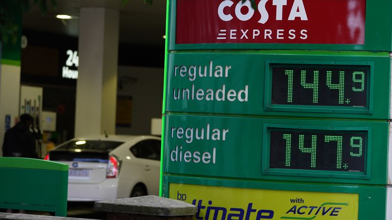 Petrol and diesel prices at a petrol station in London. Picture date: Wednesday October 20, 2021. Photo credit should read: Yui Mok/PA Wire