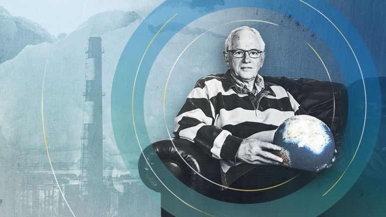 Professor Phil Jones, who was at the centre of the 'Climategate' hack. Pic: Neil Hall/ UEA/ Sky News