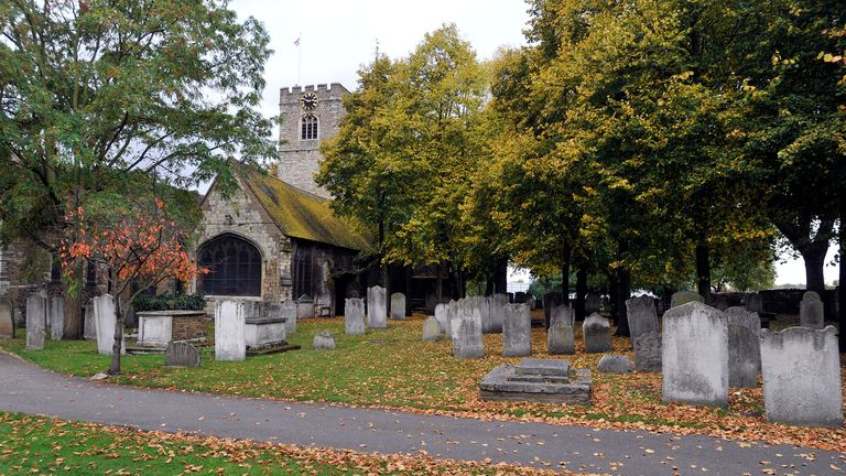 A view of St Margaret's Church in Barking, east London, as alleged serial killer , Stephen Port 40, of Cooke Street, Barking in east London, has appeared in Barkingside Magistrates accused of drugging and murdering four young men he met on gay websites, and dumping their bodies in and around a churchyard in east London. PRESS ASSOCIATION Photo. Picture date: Monday October 19, 2015. The bodies of two of the men were found by a dog walker less than a month apart in the churchyard of St Margaret's Church in North Street in Barking, while another was found near the ruins of Barking Abbey. See PA story COURTS Poison. Photo credit should read: Nick Ansell/PA Wire