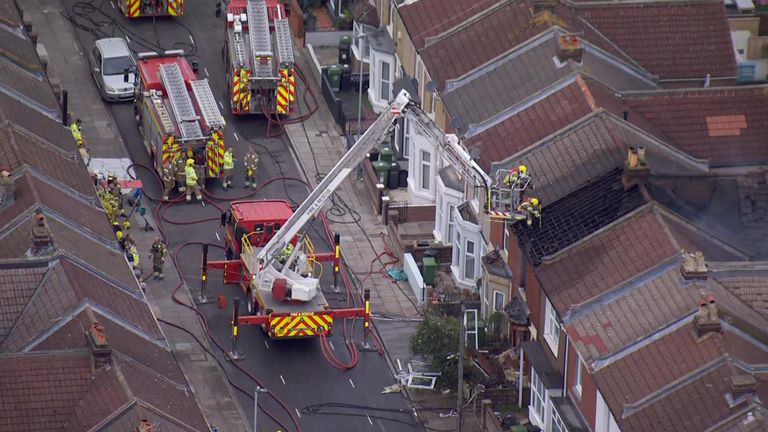 A man and woman are in a serious condition in hospital after a suspected explosion at a house in Portsmouth.