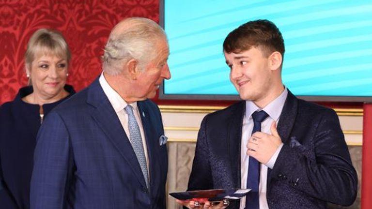 Aidan Sayers with Prince Charles
