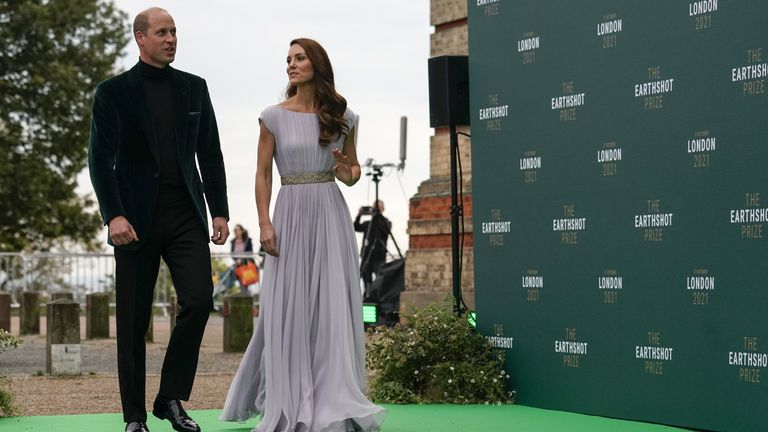 The Duke and Duchess of Cambridge on the green carpet