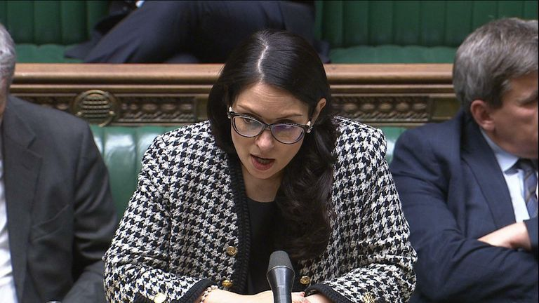 Priti Patel makes a statement to the House of Commons about MPs safety
