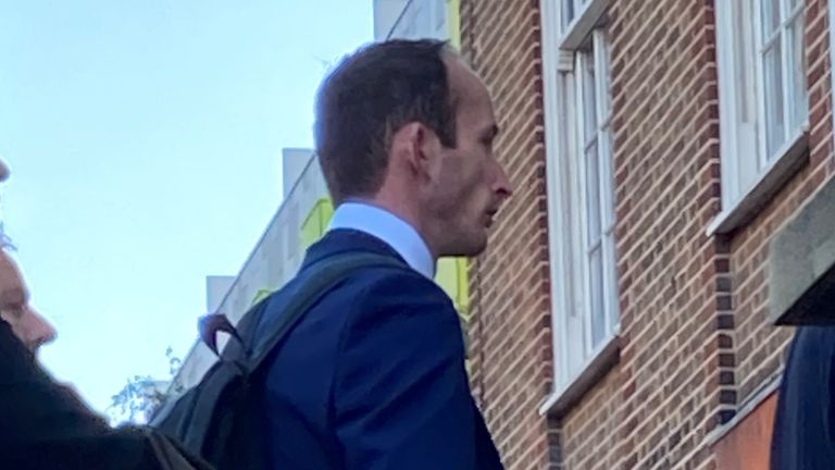 Ricky Waumsley boyfriend of Daniel Whitworth, arriving at Barking Town Hall, London, for the long-awaited inquests into the deaths of the victims of Stephen Port. Picture date: Tuesday October 5, 2021.