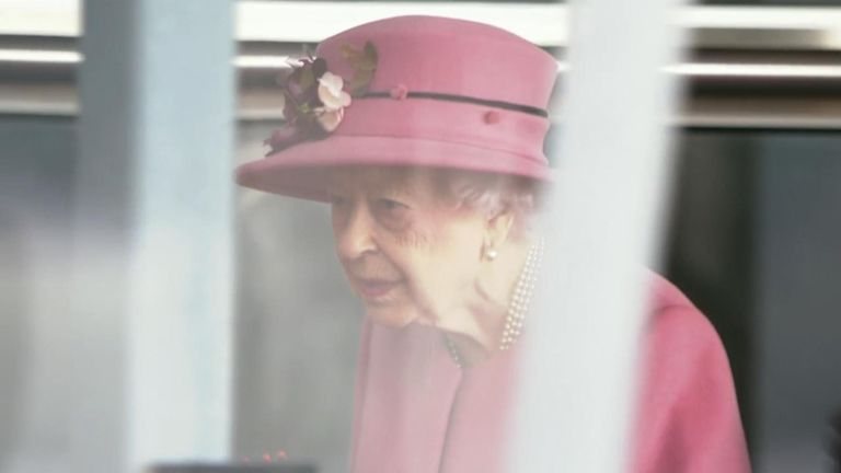 The Queen at the opening ceremony of the sixth session of the Senedd in Cardiff