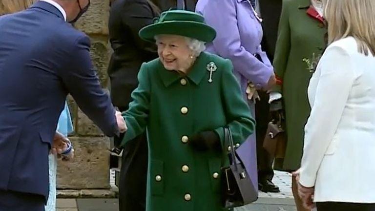 Queen Elizabeth II arrives at Scottish Parliament