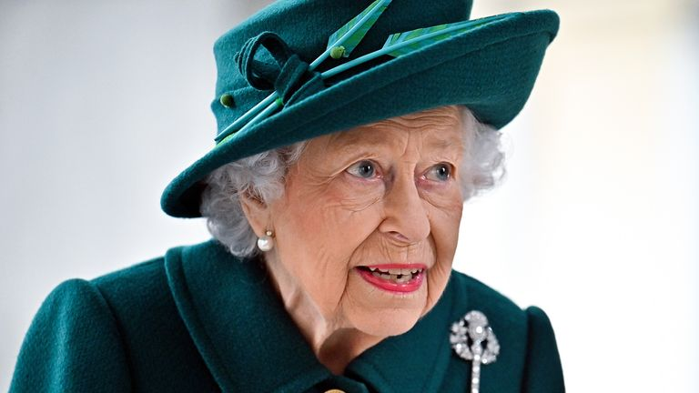 Queen Elizabeth II arrives at the Scottish Parliament in Edinburgh