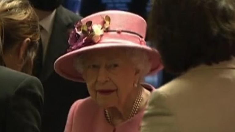 The Queen at the opening ceremony of the sixth session of the Senedd in Cardiff. Pooled video