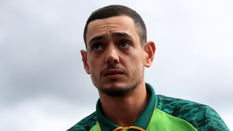 South Africa's Quinton De Kock during the ICC Cricket World Cup group stage match at the Hampshire Bowl, Southampton. PRESS ASSOCIATION Photo. Picture date: Wednesday June 5, 2019. See PA story CRICKET South Africa. Photo credit should read: Adam Davy/PA Wire. RESTRICTIONS: Editorial use only. No commercial use. Still image use only