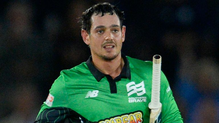 Quinton de Kock of Southern Brave during the The Hundred match between Southern Brave and Welsh Fire at the Ageas Bowl, Southampton  11 Aug 2021