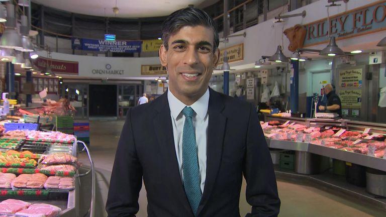 Rishi Sunak speaks  son Sky News 28/10/21