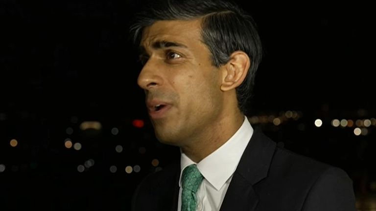 Rishi Sunak says the government is doing everything it can to mitigate supply chain challenges