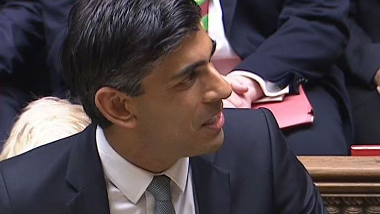 Rishi Sunak delivers opening statement of his budget speech for 2021 to the Commons