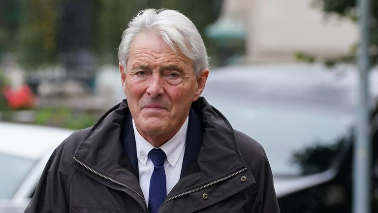 David Henderson arrives at Cardiff Crown Court where he pleaded guilty to a charge of attempting to discharge a passenger without valid permission or authorisation, relating to the flight in which Argentinian footballer Emiliano Sala. Picture date: Monday October 18, 2021.