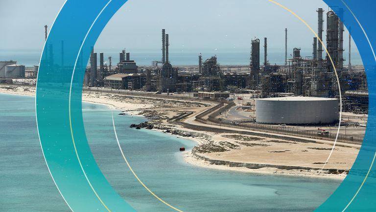 Saudi Aramco's Ras Tanura oil refinery and oil terminal