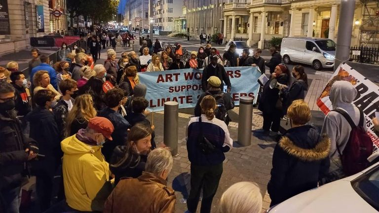 Members of the UKSCN said they were holding a candlelight vigil at the Science Museum on Tuesday evening