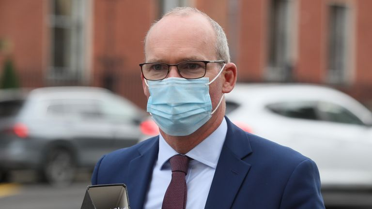 Minister for Foreign Affairs Simon Coveney arriving at Government Buildings, Dublin, for a cabinet meeting
