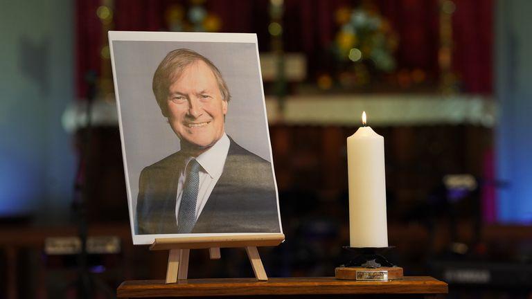 A vigil in Leigh-on-Sea for Sir David Amess