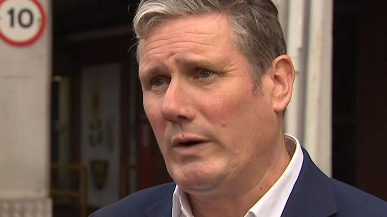 Sir Keir Starmer criticises the prime minister's conference speech