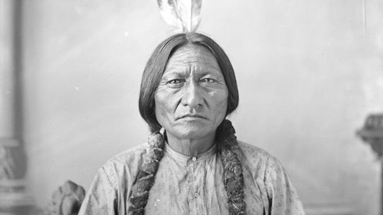 Sitting Bull led the warriors who defeated General Custer. Pic: Wikimedia/ Daniel Guggisberg historical photographs collection