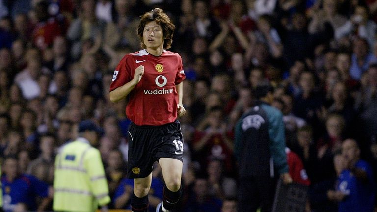 Park made 134 appearances for Manchester United and won 13 trophies. including the Champions League in 2008