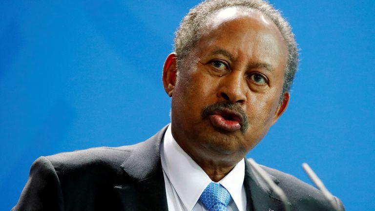 Sudan's information ministry said PM Abdalla Hamdok had been detained