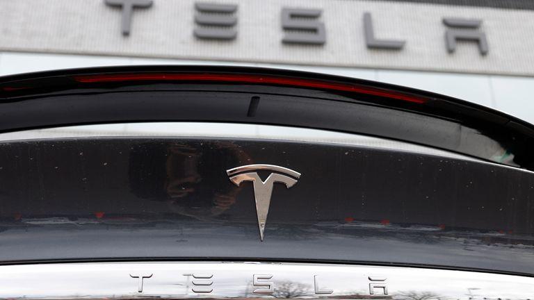 Tesla. Pic: AP