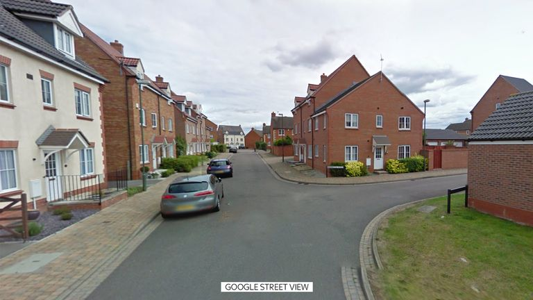 Police were called to the housing estate near Tewkesbury on Tuesday evening
