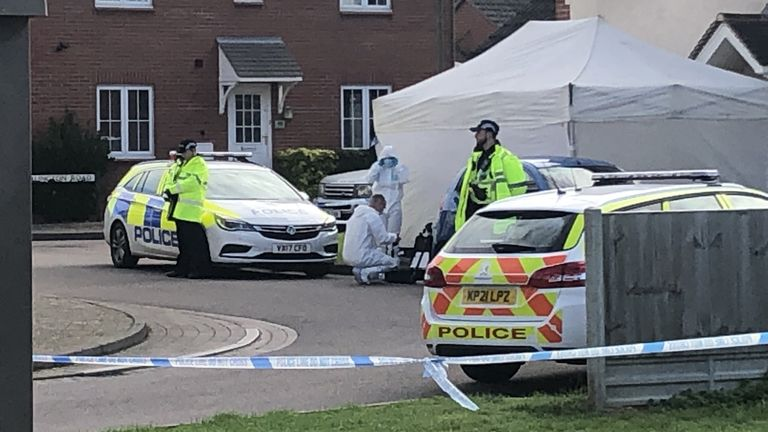 Policed activity at Snowdonia Road, Walton Cardiff, Tewkesbury, after one man died and another suffered serious injuries during a series of stabbings. Gloucestershire Police said two men and a woman were attacked on Tuesday evening. Picture date: Wednesday October 6, 2021.